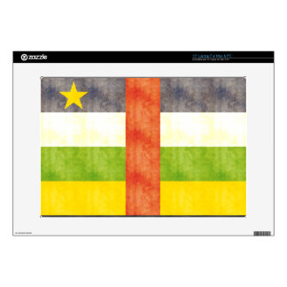 "Retro Vintage Central African Republic Flag 15"" Laptop Decal"
