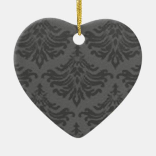 Retro Vintage Charcoal Heart Ornament