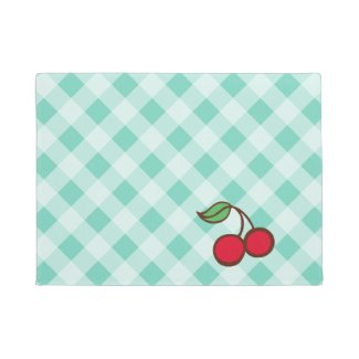 Retro Vintage Cherry Doormat Kitchen Rug
