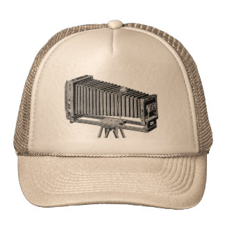 Retro Vintage Chicago Steroscopic Camera Mesh Hats