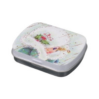 Retro vintage Christmas girl party candy mints Candy Tin