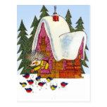 Retro Vintage Christmas , Hedgehog's cottage Postcards