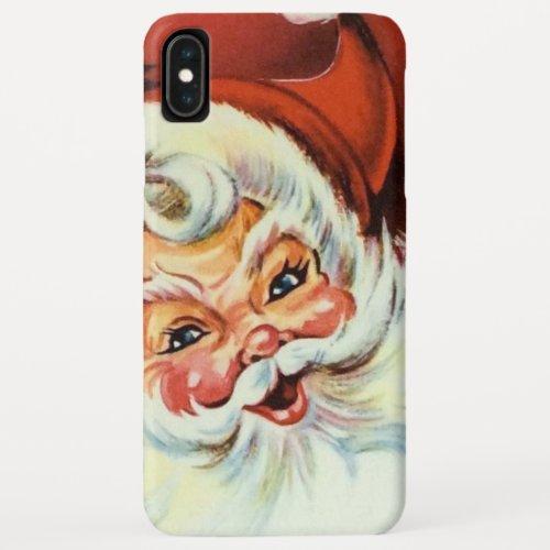 Retro vintage Christmas Santa iPhone XS Max Case