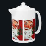 "Retro vintage Christmas Santa teapot<br><div class=""desc"">design by www.etsy.com/Shop/VanityFlairDesign</div>"