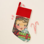 Retro Vintage Christmas shopper stocking