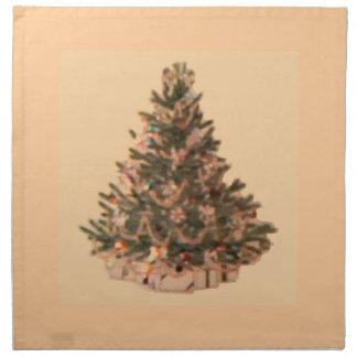 Retro Vintage Christmas Tree Napkins