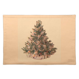 Retro Vintage Christmas Tree Placemats