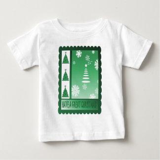 Retro Vintage Christmas trees Baby T-Shirt