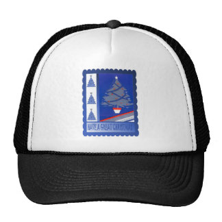 Retro Vintage Christmas trees Trucker Hat
