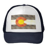Retro Vintage Colorado Flag Trucker Hats