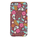 Retro Vintage Colorful Flowers Case Barely There iPhone 6 Case