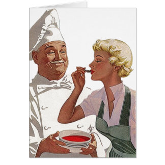 Retro Vintage Cook Off Chef Taste Blank Note Card