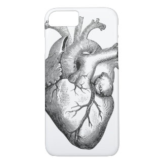 Retro Vintage Cool Anatomical Heart Sketch iPhone 7 Case