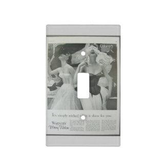 Retro vintage Corset advertisement, Light Switch Covers