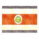 Retro Vintage Costa Rica Flag Postcard