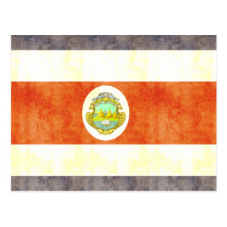 Retro Vintage Costa Rica Flag Postcard