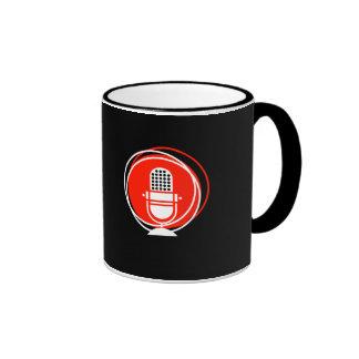 Retro & Vintage Designs Microphone microphone reco Ringer Coffee Mug