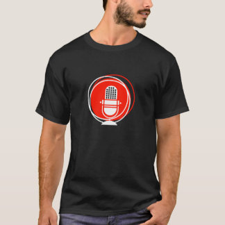 Retro & Vintage Designs Microphone microphone reco T-Shirt