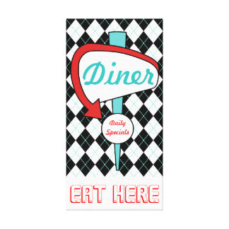 Retro Vintage Diner Sign Kitchen Wall Art Gift