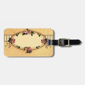 Retro Vintage Dogwood Victorian Luggage Tag