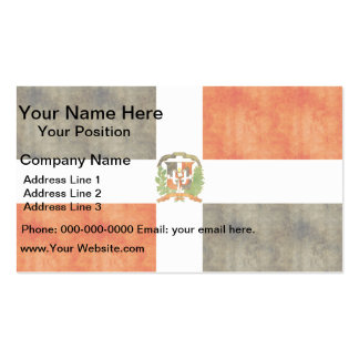 Retro Vintage Dominican Republic Flag Business Card