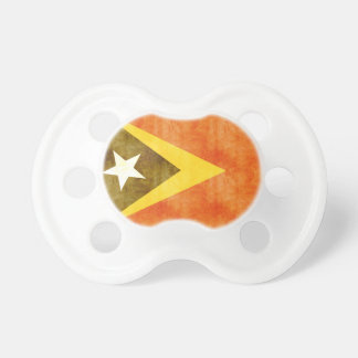 Retro Vintage East Timor Flag Baby Pacifiers