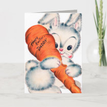 Retro vintage Easter bunny Daddy Holiday Card