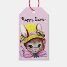 Vintage rabbit gift tags zazzle negle Choice Image