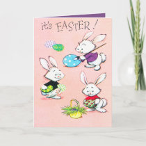 Retro vintage Easter Holiday bunny