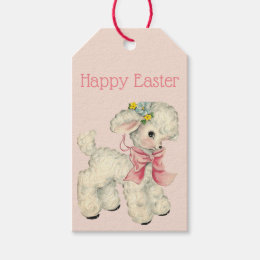 Vintage easter gift tags zazzle retrovintage easter lamb gift tags negle Choice Image