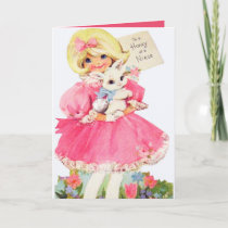 Retro Vintage Easter Niece Holiday Card