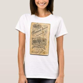 Retro Vintage Ephemera Budapest Official Document T-Shirt