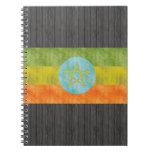 Retro Vintage Ethiopia Flag Journals