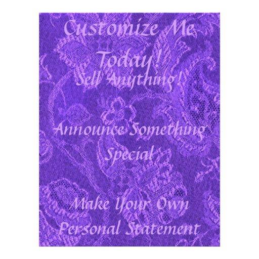 Retro Vintage Floral Amethyst Purple Flyer