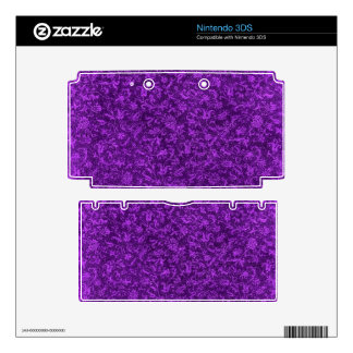 Retro Vintage Floral Amethyst Purple Grape Flowers Decals For 3DS