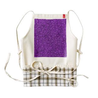 Retro Vintage Floral Amethyst Purple Grape Flowers Zazzle HEART Apron