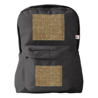 Retro Vintage Floral Coffee Brown American Apparel™ Backpack