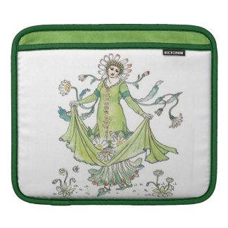 Retro Vintage Floral Goddess Lady Daisy Classy iPad Sleeve