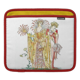 Retro Vintage Floral Goddess Lady Tigerlily Sleeve For iPads