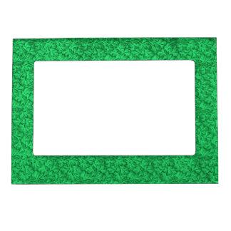 Retro Vintage Floral Lace Leaf Mint Emerald Green Magnetic Frame