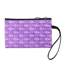 Retro Vintage Floral Lavender Amethyst Purple Change Purse