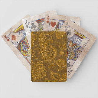 Retro Vintage Floral Mustard Yellow Playing Cards Bicycle Playing Cards