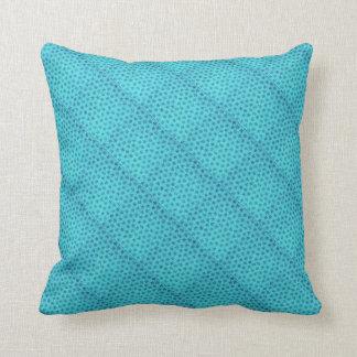 Retro Vintage Floral Powder Blue Flowers Throw Pillows