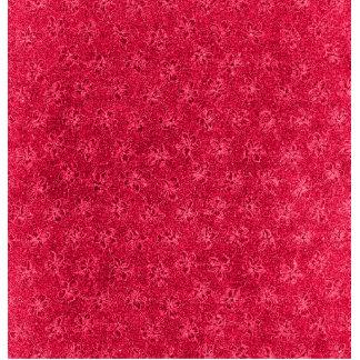 Retro Vintage Floral Ruby Cranberry Red Violets Cutout