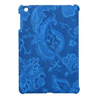 Retro Vintage Floral Sapphire Blue iPad Mini Case