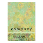 Retro Vintage Floral Yellow Green Business Card