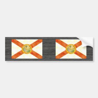 Retro Vintage Florida Flag Bumper Sticker