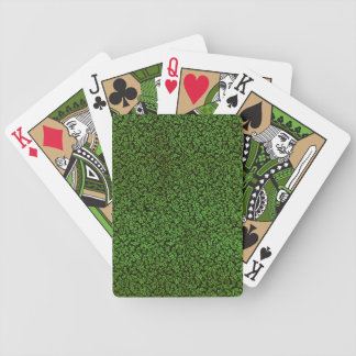 Retro Vintage Flowers Green Playing Cards Bicycle Playing Cards