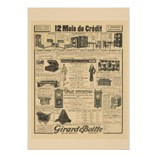 Retro vintage French  Advertising 1931 Poster