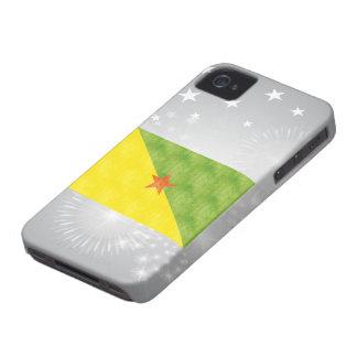 Retro Vintage French Guiana Flag iPhone 4 Case